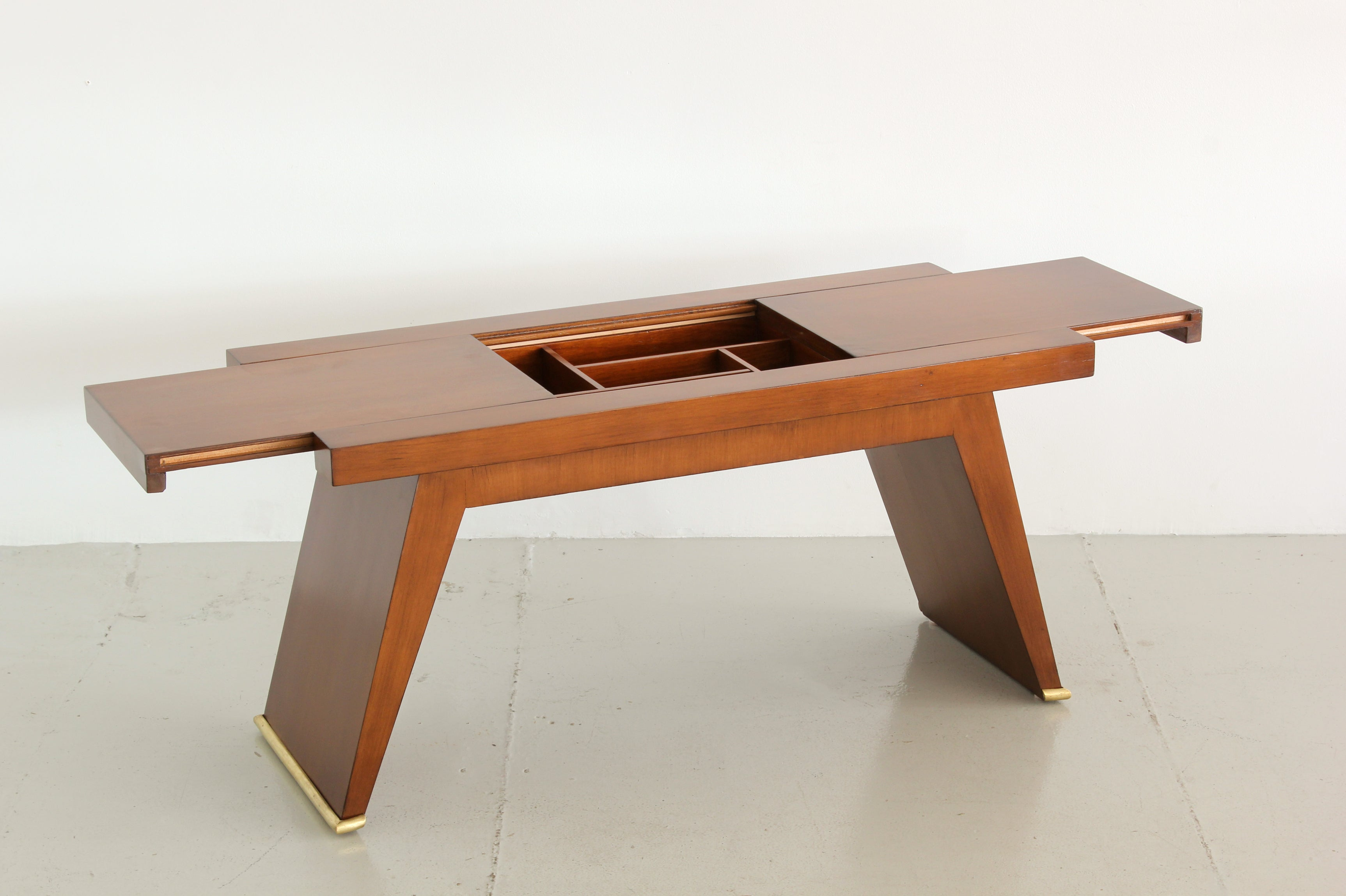 French Coffee Table with Sliding Tops Orange Furniture Los Angeles