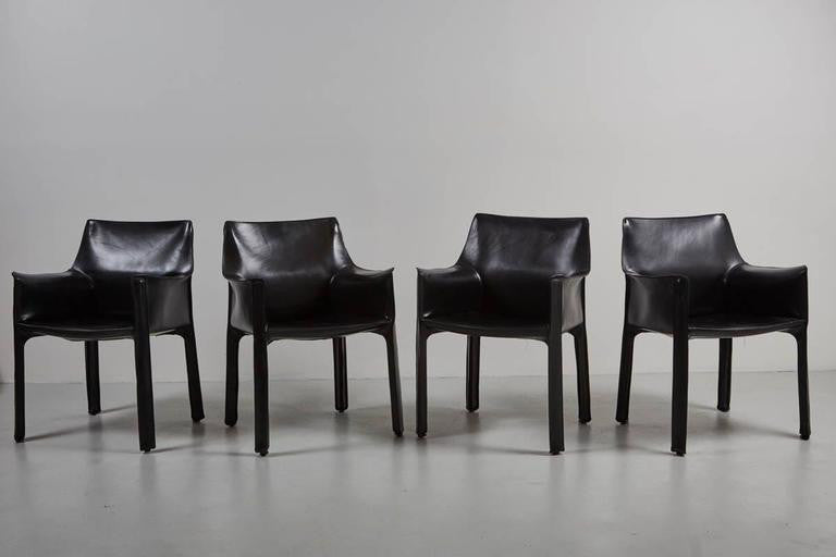 ... Cassina CAB Arm Chairs By Mario Bellini ...