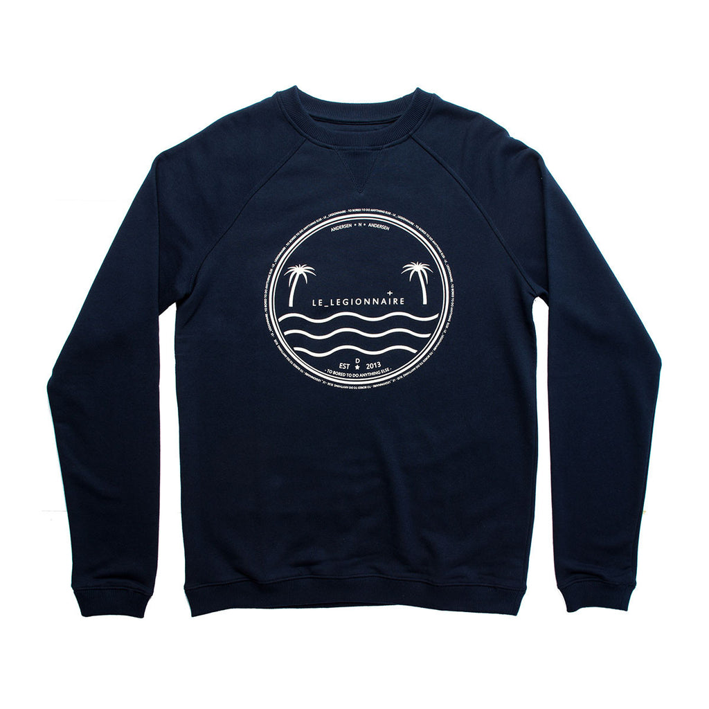 BEACH SWEATSHIRT - NAVY