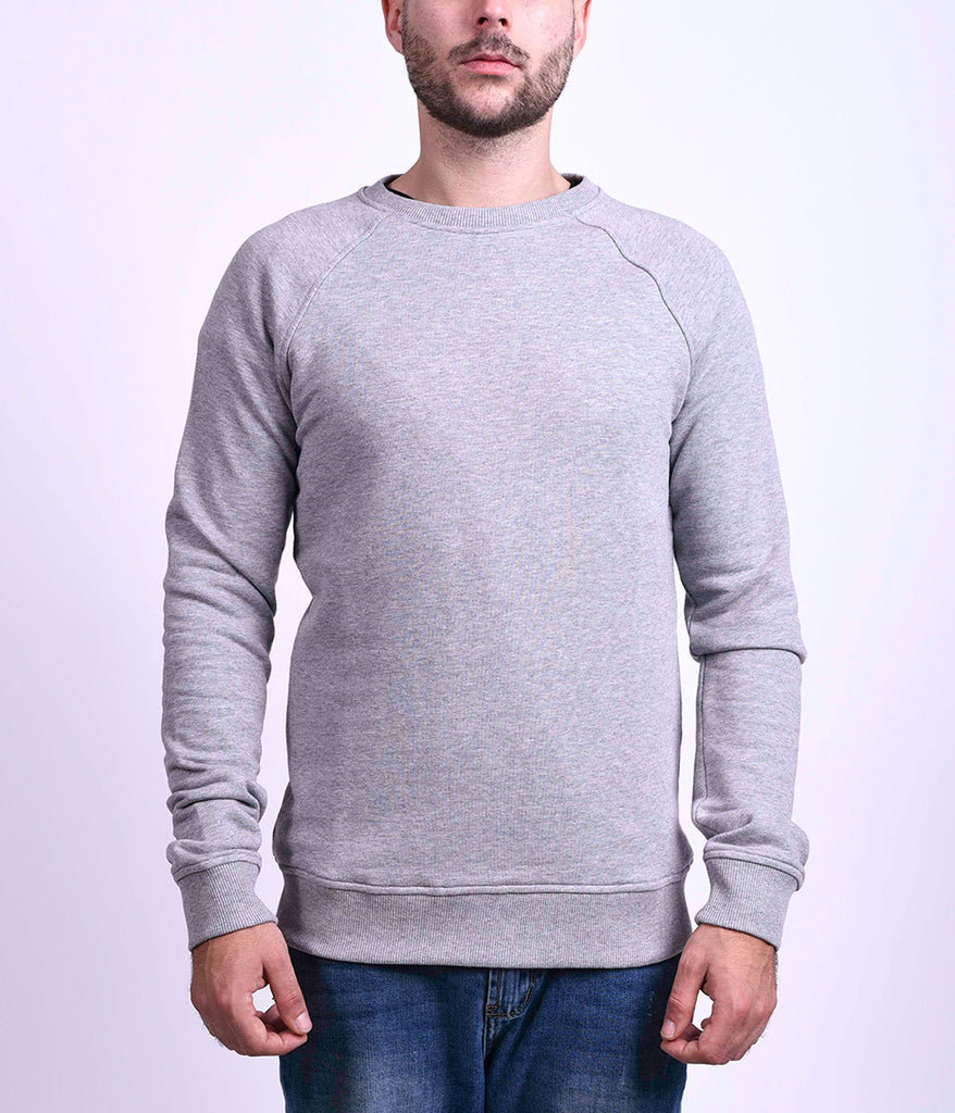 BASIC SWEATSHIRT - GREY MELANGE