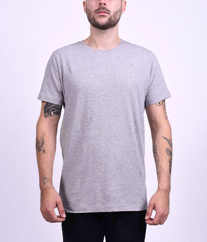 BASIC TEE - GREY MELANGE