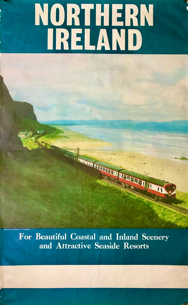 Northern Ireland coastal train, c1970