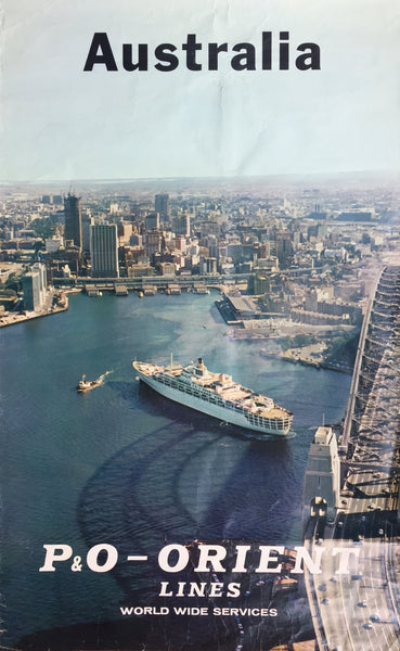 Sydney Harbour with SS Oriana, P&O-Orient Line, 1960s