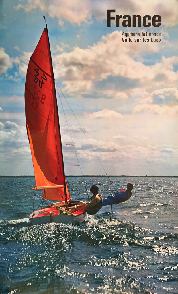Sailing, Aquitaine, France, 1963