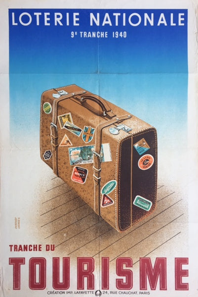 Suitcase, Loterie Nationale, France, 1930s