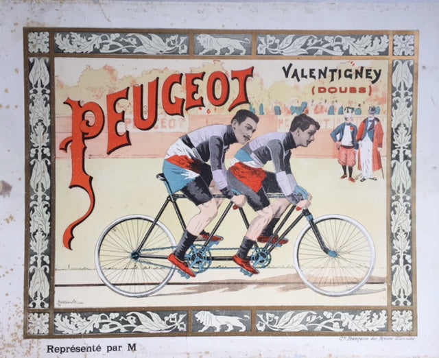 Peugeot tandem cycle racers, France, c1905