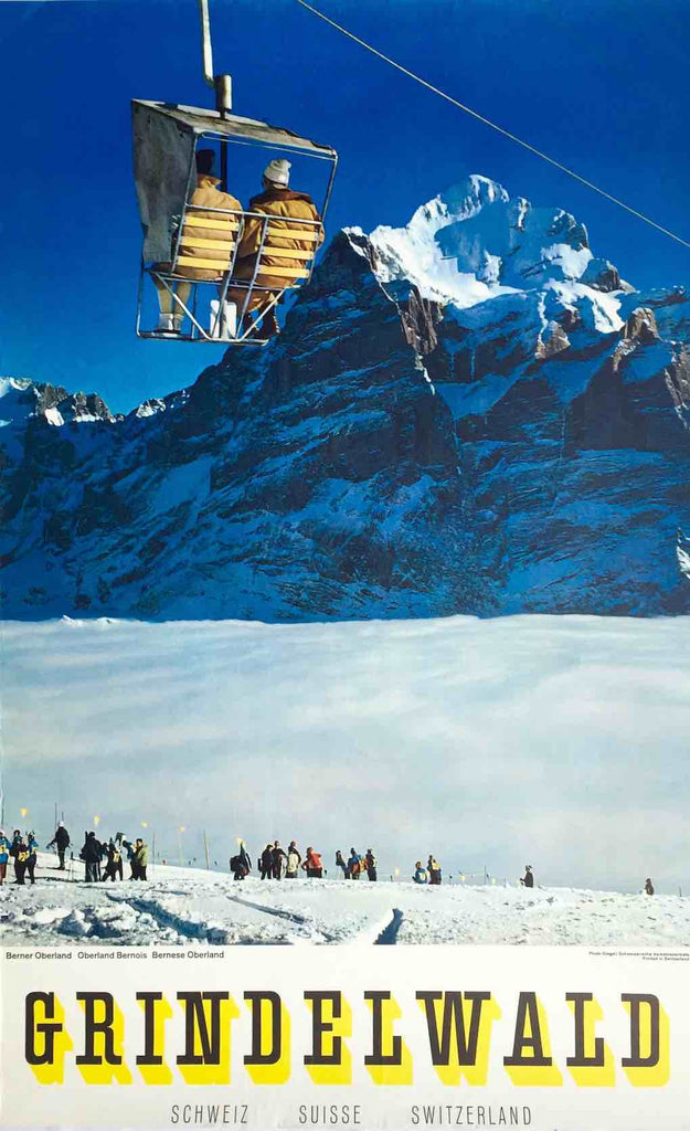 Grindelwald skiing, Switzerland, 1970s