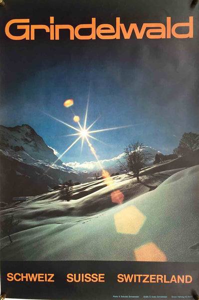 Grindelwald winter sun, Switzerland, c 1970
