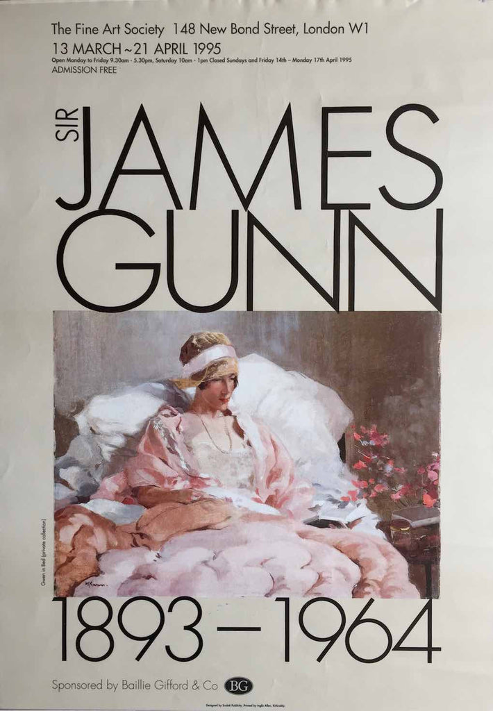 Sir James Gunn exhibition poster