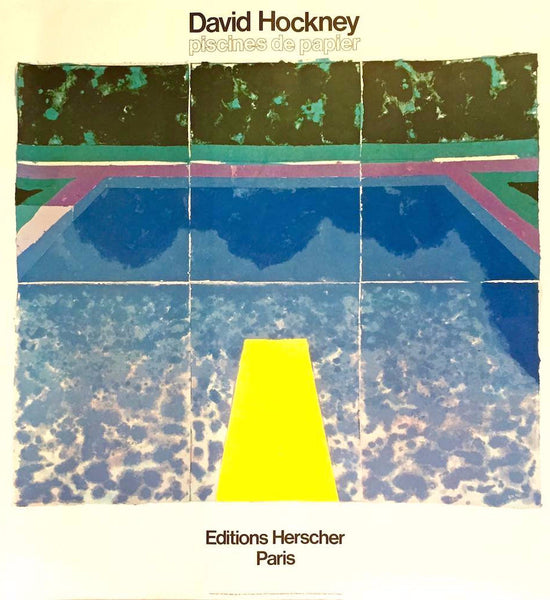 David Hockney, Piscines de Papier, 1978?