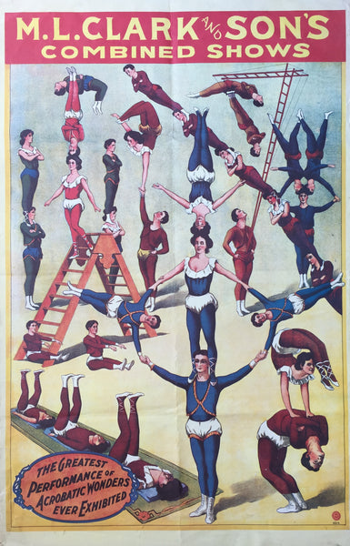 M.L. Clark and Son's Combined Shows, Circus poster