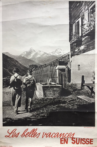 Hiking in the Alps, Switzerland, 1930s?
