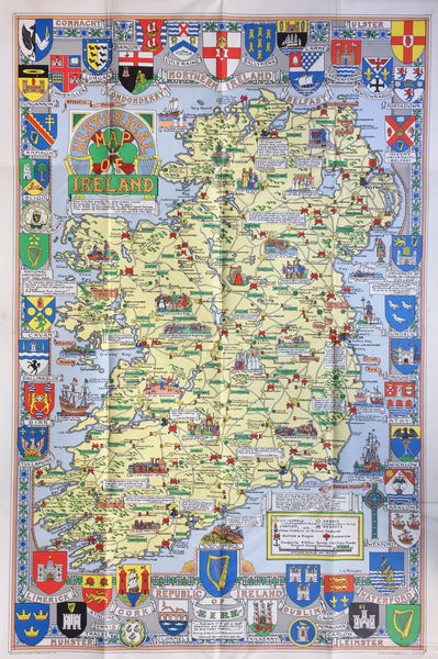 Historical map of Ireland, 1962