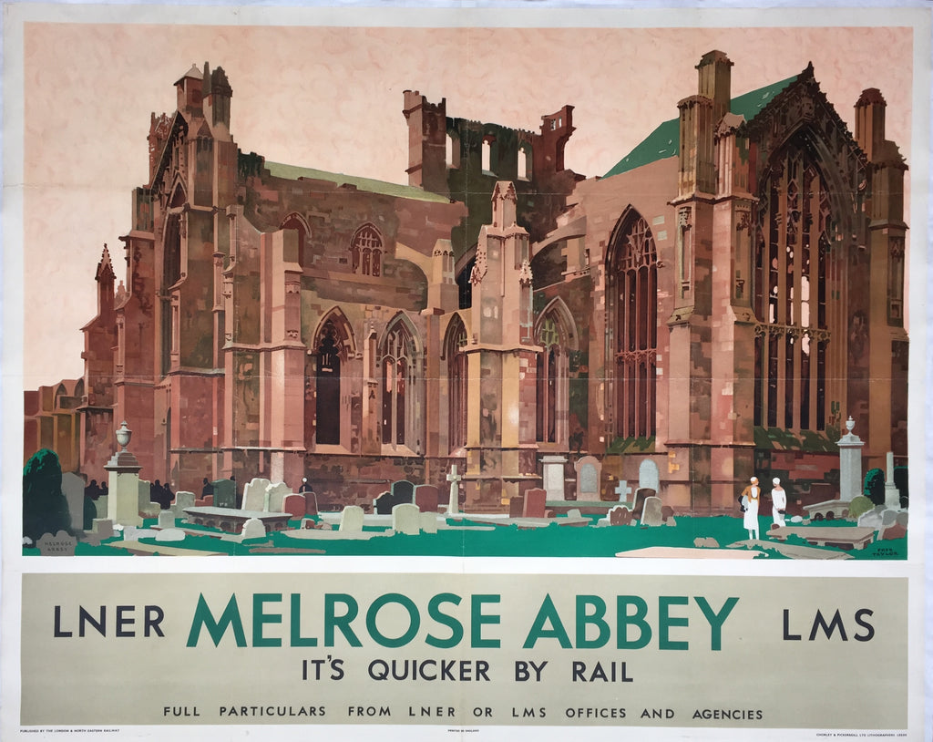Melrose Abbey, Scotland, by Fred Taylor, 1933