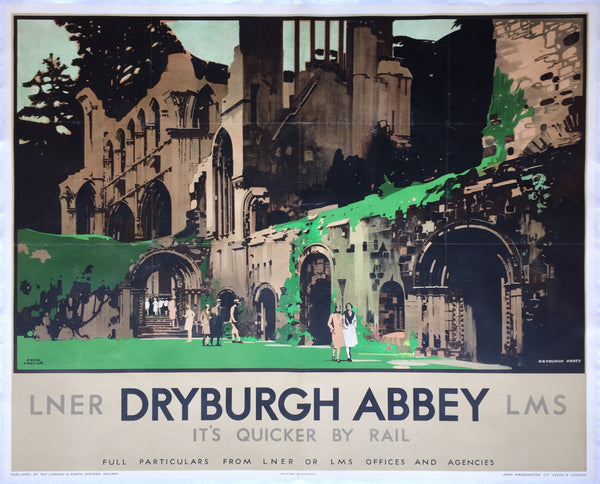 Dryburgh Abbey, Scotland, by Fred Taylor, 1933