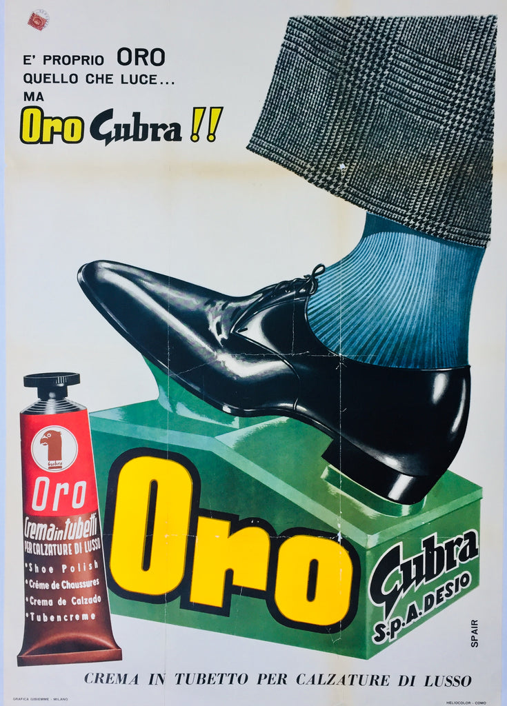 Oro Shoe Polish, Italy, c1960?