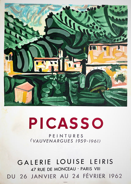 Picasso, Exhibition of Vauvenargues paintings, Paris 1962