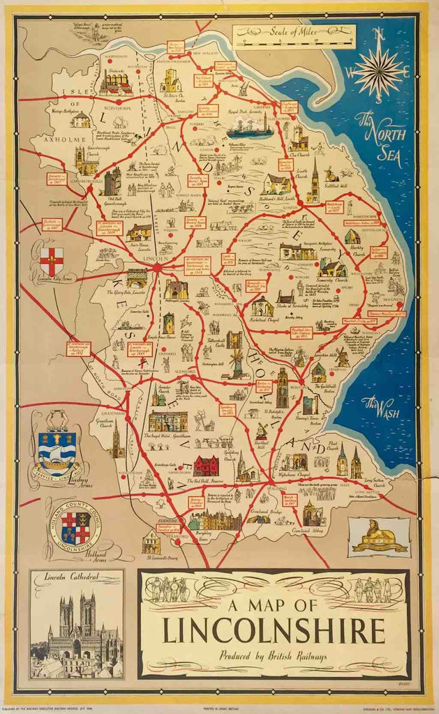 Map Of England Lincolnshire.Lincolnshire Map England 1951