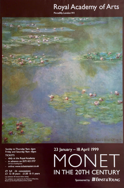 Monet exhibition London, 1999