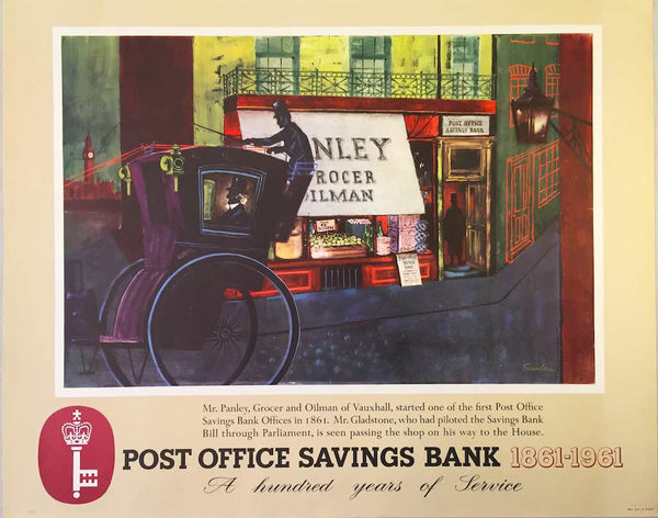 Post Office Savings Bank centenary, England, 1961