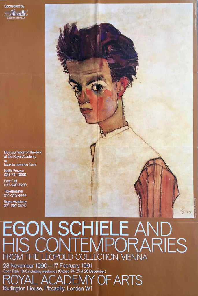 Egon Schiele exhibition, London 1991