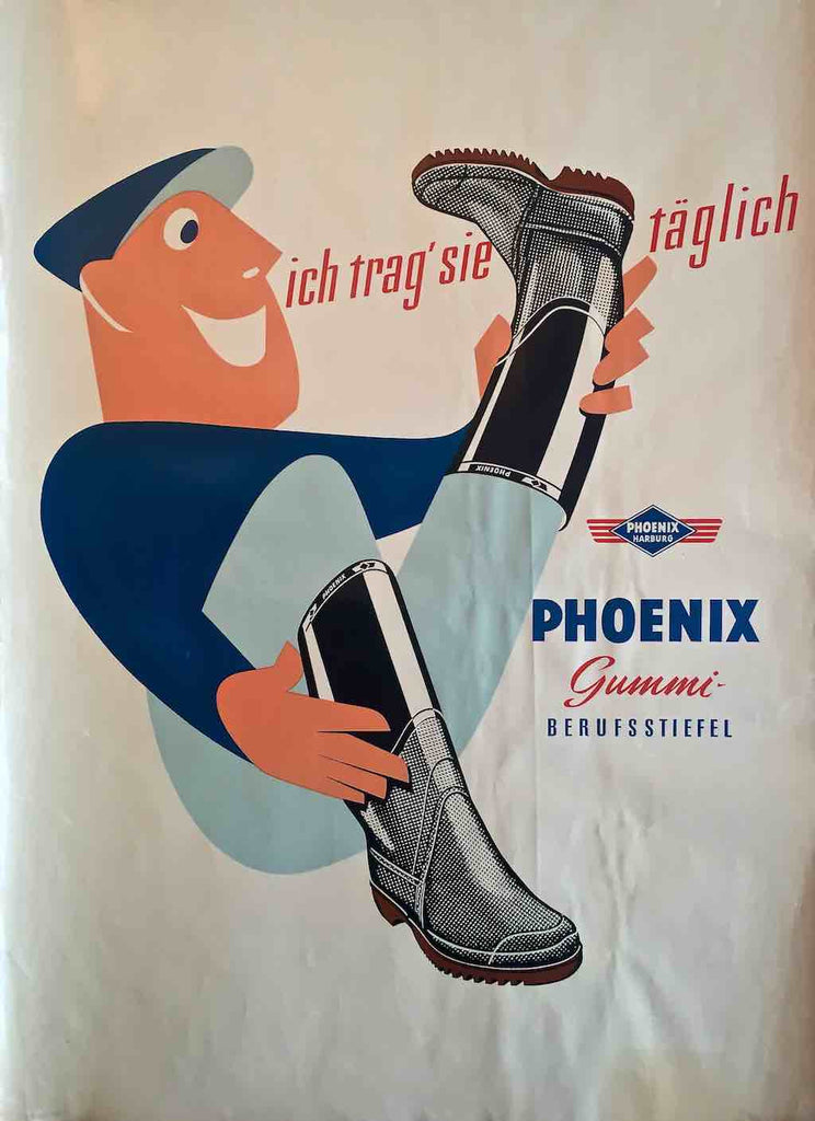 Phoenix rubber boots, Germany, 1950s