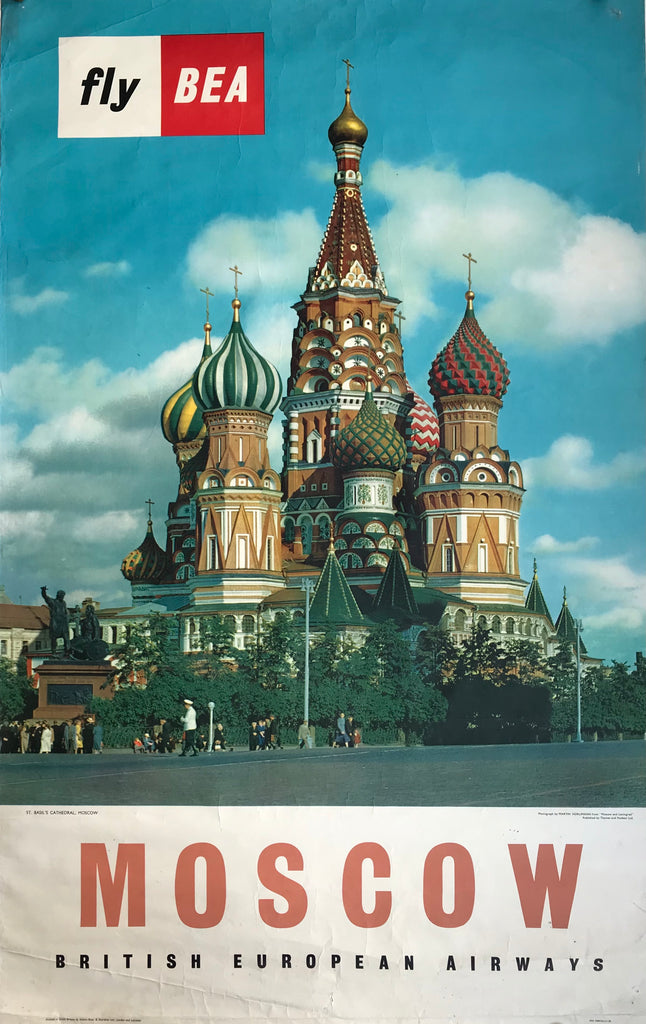 Fly BEA to Moscow, St Basil's Cathedral, 1958