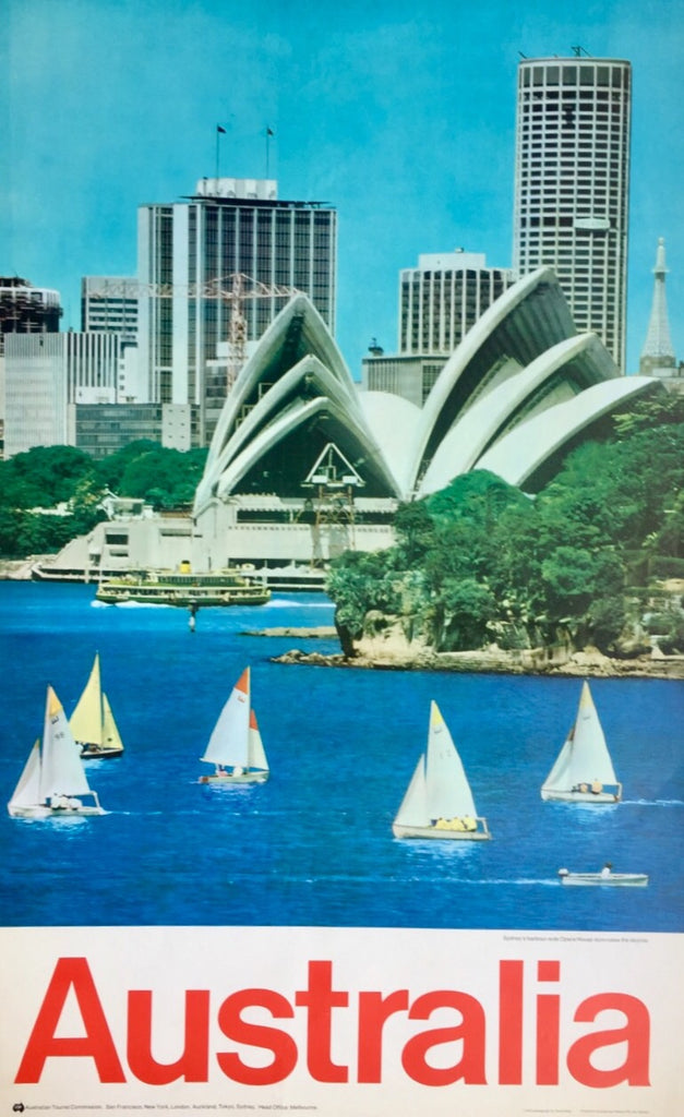Sydney Harbour and Opera House, Australia, c 1970