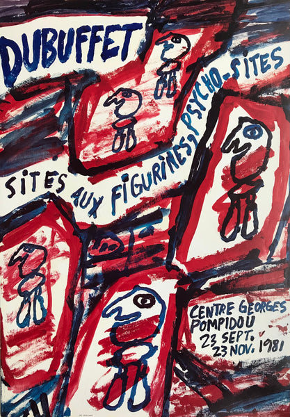 Dubuffet exhibition, Paris, France, 1981