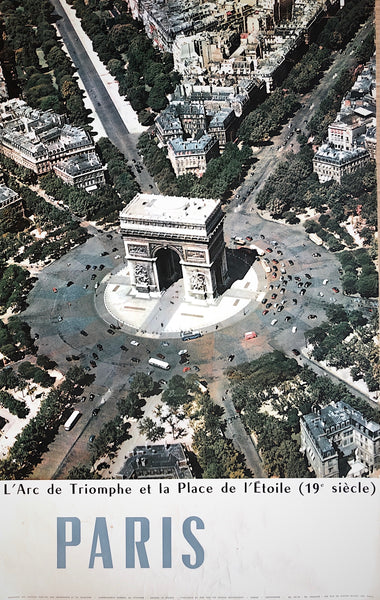 Arc de Triomphe, Paris, France, 1960