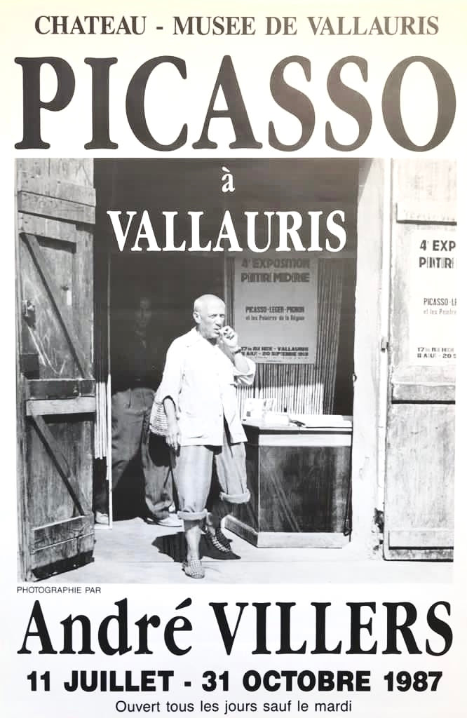 Exhibition of photographs of Picasso by André Villiers, Vallauris, France, 1987