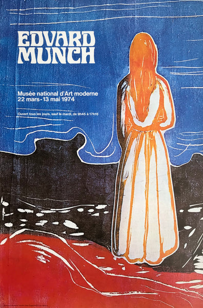 Edvard Munch exhibition, Paris, France, 1974