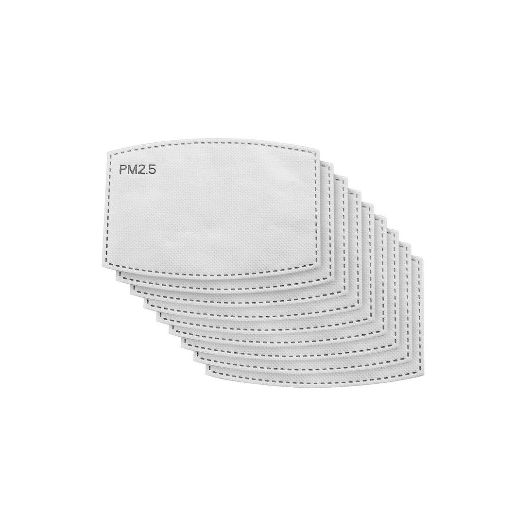 nine white n95 and kn95 multi-layer technology filters