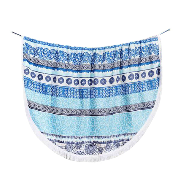 Desigual Round Towel - Exotic Stripes