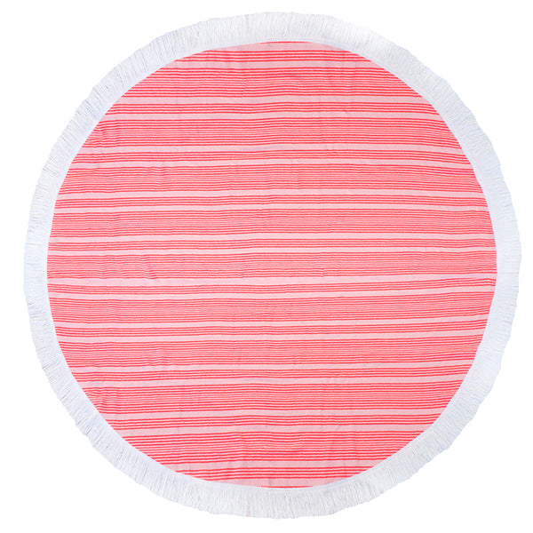 Express Round Beach Towel - Horizon Coral