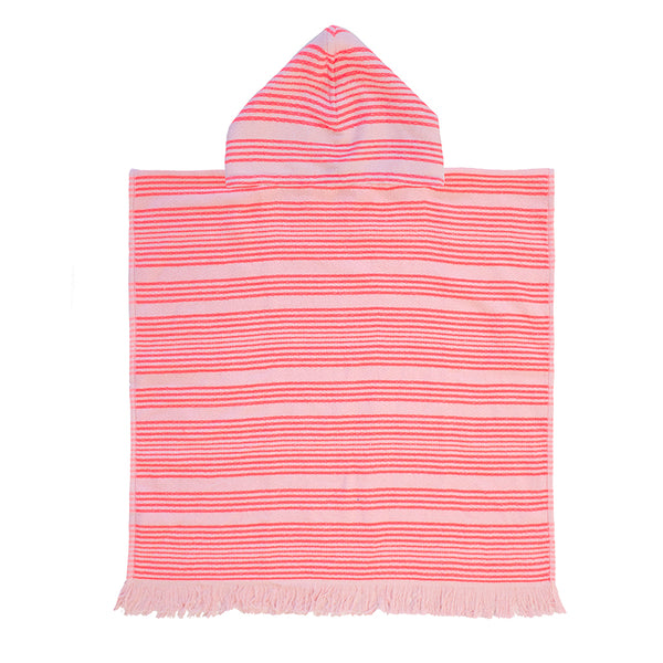 Youth Kids Express Poncho - Horizon Coral