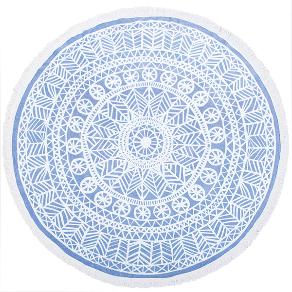 Round Printed Beach Towel - Oliana