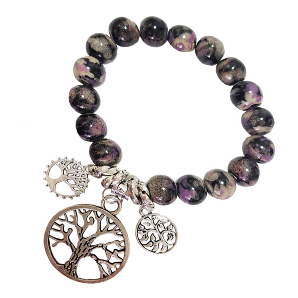 Purple Forest Buddha Bead Bracelet