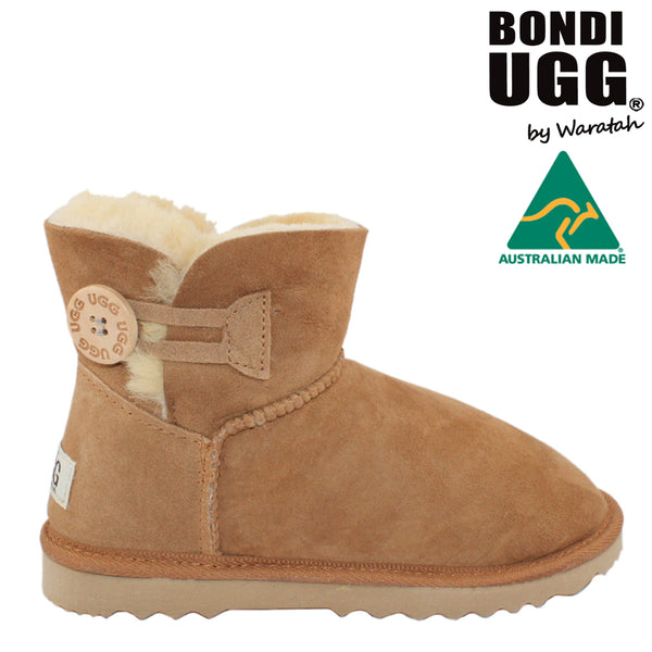 BONDI UGG Button Short Boot - Chestnut