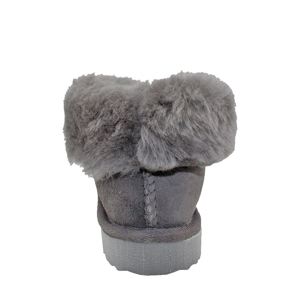 BONDI UGG KIDS Sheepskin Slipper Boots - Grey