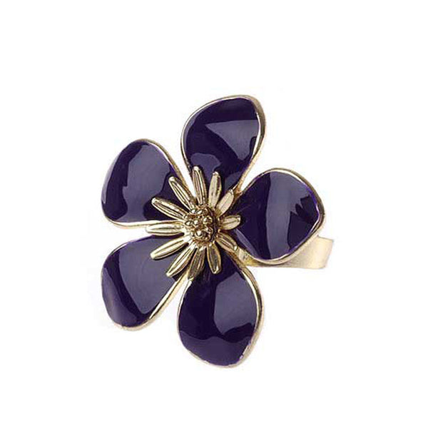 Purple Bloom Fashion Ring