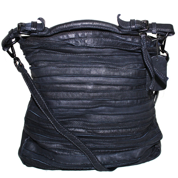 Hobo Leather Provincial Bag - Midnight
