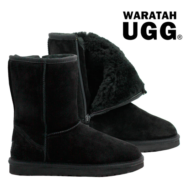 83265a6a5218 Waratah UGG Unisex Water Resistant Mid Zip Up Boot - Black