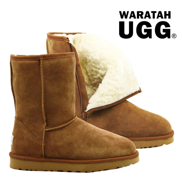 6957a7f3e6df Waratah UGG Unisex Water Resistant Mid Zip Up Boot - Chestnut