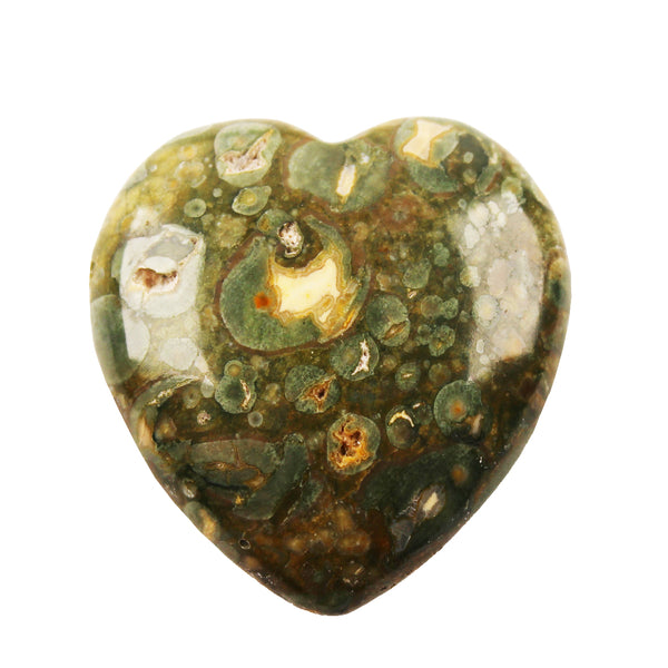 Australian Rainforest Jasper Heart - C