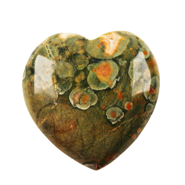 Australian Rainforest Jasper Heart - D