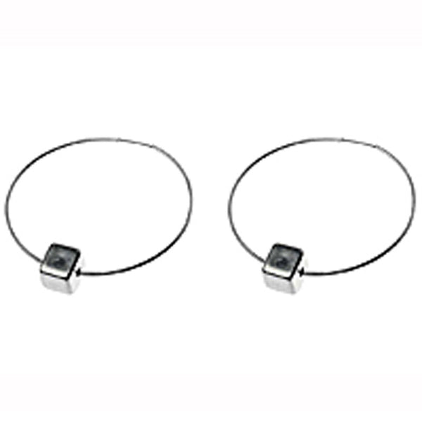 Hoop & Cube Earrings