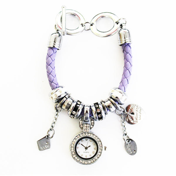 Charm Bracelet Watch in Lexy Lilac