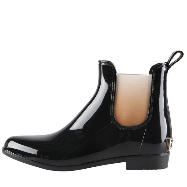 Waratah UGG Waterproof Rainboots with Sheepskin Insoles - Black/Gold