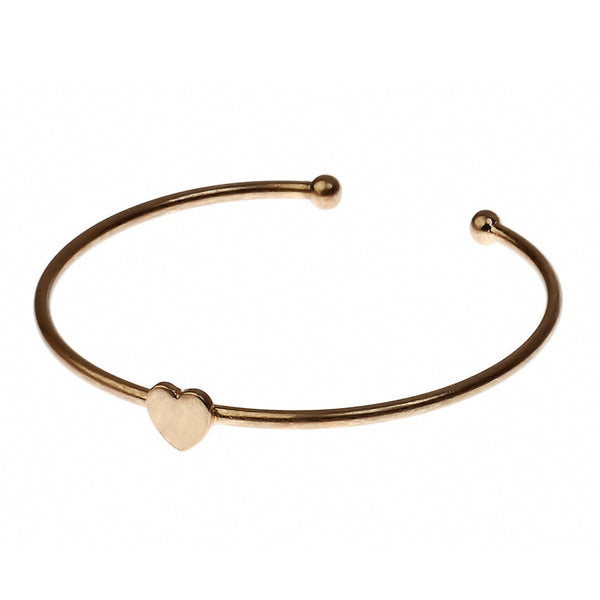 Heart Cuff in Vintage Gold Tone